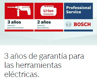 3 años de garantía Bosch adicionales