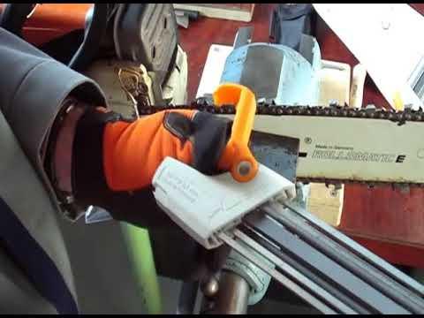 Juego de limas para afilar sierras de cadena, afilador para motosierra