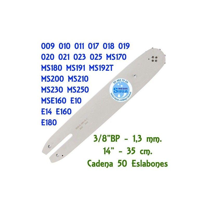 Stihl e160 e180 35cm SWS forestal espada set con 3 sierra cadenas 3//8 50tg 1,3mm P.F